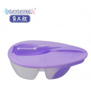 Babisil - 食物分隔碗連感溫匙 (紫)