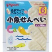 Pigeon 6個月起嬰兒餅乾(高鈣魚米餅)2片 x 6包