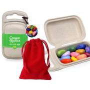 Crayon Rocks -  12 Color in Velvet Bag