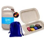 Crayon Rocks -  6 Color in Velvet Bag