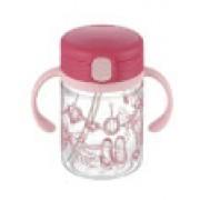 Richell - 嬰兒吸管式飲水杯(粉紅色)200ml