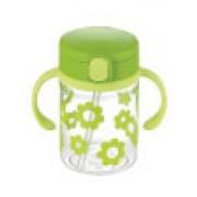 Richell - 嬰兒吸管式飲水杯(綠色)200ml