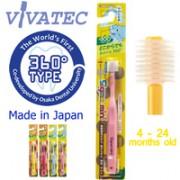 Vivatec - 360兒童(2歲以上)牙刷  (粉紫色)